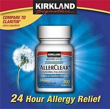KIRKLAND ALLERCLEAR - LORATADINE- 365 CT  10 mg ALLERGY RELEIF PILLS GENERIC