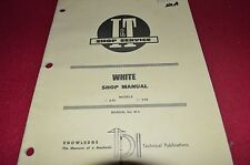 Oliver White 2-62 2-45 Tractor I&T Shop Manual CHPA