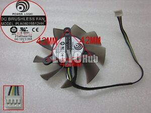 NEW Power Logic PLA08015B12HH 12V 0.35A For MSI graphics card fan 4-Pin 2 ball