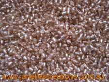 20 grams, 3.6mm Silver Lined Seed Beads - APRICOT