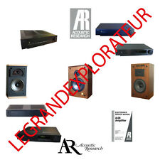 Ultimate Acoustic Research Owners Repair & Service schematics manuals manual DVD