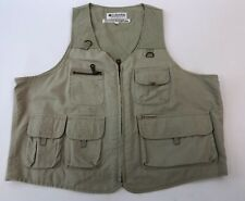 Mens Columbia Cotton Beige Zip Front Light Outdoors Hunting Fly Fishing Vest M