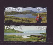 Faroe Islands 2018 Mnh - Lakes Sandsvatn and Toftavatn - set of 2 stamps