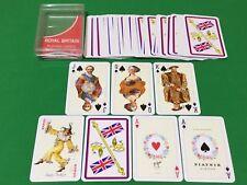 Vintage Piatnik Non Standard ** ROYAL BRITAIN ** Playing Cards KING + QUEEN