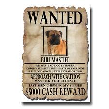 Bullmastiff Wanted Poster Fridge Magnet No 1 Dog Funny