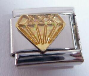 DIAMOND Italian Charm Glitter Gems Bling Jewel - fits Classic Starter Bracelets