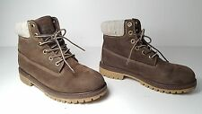 $179 size 4 Timberland Classic Brown Nubuck Leather Ankle Boots Womens Shoes