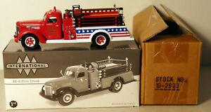 DTE 1:34 FIRST GEAR 19-2903 BALTIC FIRE DEPT 1949 KB-8 INTERNATIONAL FIRE TRUCK