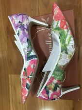 Bettye Muller Astor Pointed Toe Pumps, Floral Embroidered Sz US10