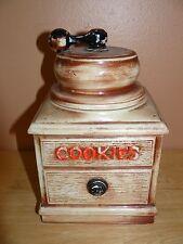 "Vintage 1960s Mccoy Coffee Grinder Cookie Jar Canister 10 inch x 6"""