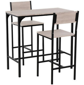 Breakfast Bar Table And Stools Kitchen Dining Room Industrial Furniture Modern