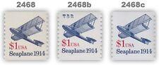 2468 2468b 2468c Seaplane $1 Coil Variety Set of 3 Transportation MNH - Buy Now