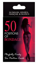 50 POSITIONS OF BONDAGE! CARD GAME ADULT FUN NAUGHTY GIFT Sex Aid Cards