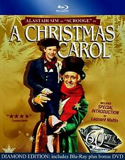 NEW BLU RAY+DVD - A CHRISTMAS CAROL - ALASTAIR SIM - RE MASTERED BLACK AND WHITE