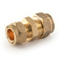 NEW 15mm to 8mm reducing BRASS compression fitting