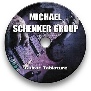 Michael Schenker Group MSG Rock Metal Guitar Tab Tablature Lesson Software CD