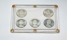 Set of 5 Types 1965 Issue  Canada Silver Dollars in Capitol Holder   lot # 2