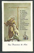 Estampa antigua de San Antonio de Padua andachtsbild santino holy card santini