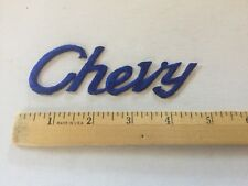 Chevrolet Patch Embroidered , Vintage Rare Chevy Patch Awesome Diecut Blue