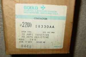 NOS GOULD CONTACTOR 2200 EB330AA 3 POLE 600 VAC NEW IN BOX