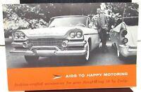 1958 Dodge Dealer Accessories Sales Brochure Swept-Wing Fuel Injection D-500