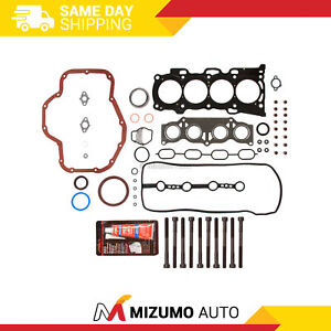 Full Gasket Set Head Bolts Fit Toyota Rav4 Camry Highlander Scion tC 2.4L 2AZFE