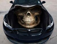 Vinyl Car Hood Wrap Full Color Graphics Decal Death Face Skull Sticker