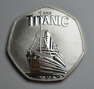Brand New RMS TITANIC Silver Commemorative. Ocean Liner, White Star Line/Olympic