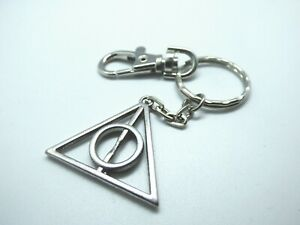 Deathly Hallows Keyring with Swivel Clip Harry Potter Fan Gift