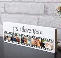 PS I Love You Paartner Wife Husband Plaque Keepsake Photo Block Present Gift