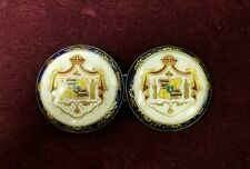 Hawaiian Ceramic Coat of Arms Belt Buckle