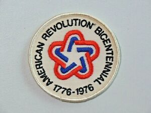 Vintage American Revolution Bicentennial 1776-1976 Embroidered Patch Used 7834