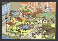 SINGAPORE 2017 MORNING IN SINGAPORE SOUVENIR SHEET OF 1 STAMP IN MINT MNH UNUSED