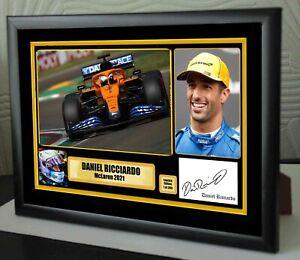 "Daniel Ricciardo McLaren F1 2021  Canvas Print Signed ""Great Gift"""