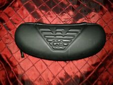 Unisex Eye-wear Giorgio Armani  Black Signature Trademark Glass Plastic Case