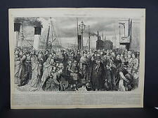 HARPER'S WEEKLY, Double Page S2#08 Oct 1874 Our Artist on the Folkestone Pier