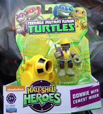 Teenage Mutant Ninja Turtles 3'' Half-heroes Donnie With Cement Mixer HTF