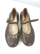 "Camper Mary Jane Shoes Brown Leather Size 9/40  Cute 1"" Heel"