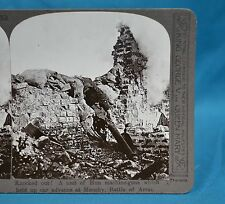 WW1 Stereoview Knocked Out A Nest Of German Machine Guns Monchy Battle Of Arras