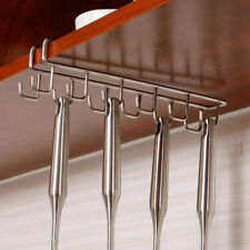 12 Hooks Stainless Steel Kitchen Storage Rack Cupboard Hanging Hook Shelf Dish