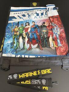 "Justice League DC Comics 2011 San Diego Comic Con LARGE Shopping Bag 23""x27"""