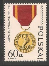 Poland #2931 (A910) VF MNH - 1989 60z WWII Decorations / Medals
