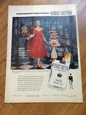 1952 Herbert Tareyton Cigarette Ad Mrs J K Mackenzie Pringle New York Socialite