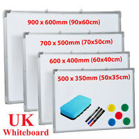 Magnetic Whiteboard Small Large White Board Dry Wipe Notice School Office Home
