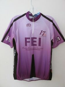 Pactimo NEW FEI Purple 1/4 ZipNeck Pullover Short Sleev Cycling Jersey Men's XXL