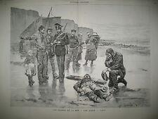 BRETAGNE PECHEUR NAUFRAGE GENDARME INDE RUE BOMBAY EGOUTS DE PARIS GRAVURES 1883