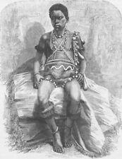 BENIN. Young Fetish man of Lake Jonanga 1891 old antique vintage print picture