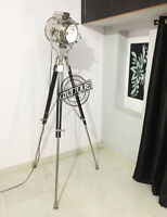 Halloween Corner Sofa Floor Lamp Stand with Wooden Tripod Vintage Marine Searchl