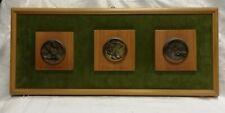 Scultura in bassorilievo in bronzo Vincenzo Gennaro diametro cm 6 Antikidea