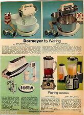 1969 ADVERTISEMENT Mixer Blender Kitchen Aid Waring Iona Dormeyer Stand Buffer